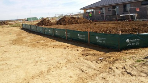 Printed Silt Fencing on House Sites