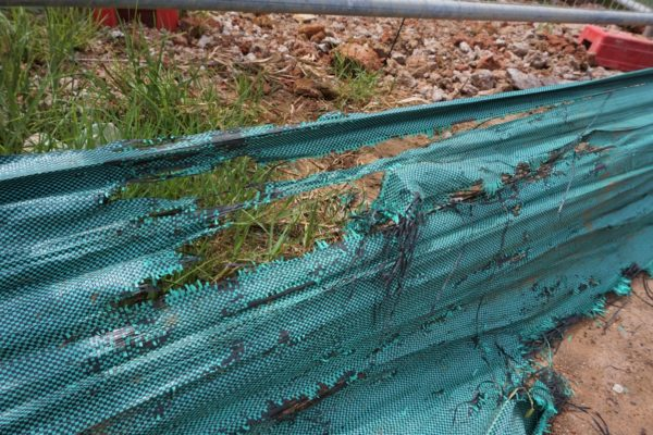 Traditional Green Silt Fence
