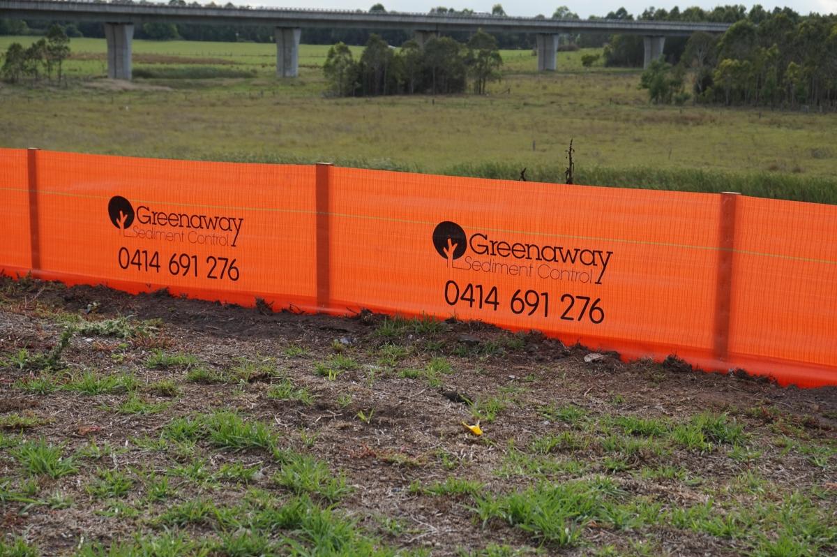 Greenaway Printed Hi-Vis Silt Fencing sediment control