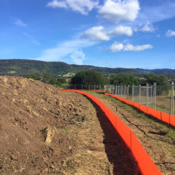Orange Hi-Vis Silt Fencing Greenaway Sediment Control