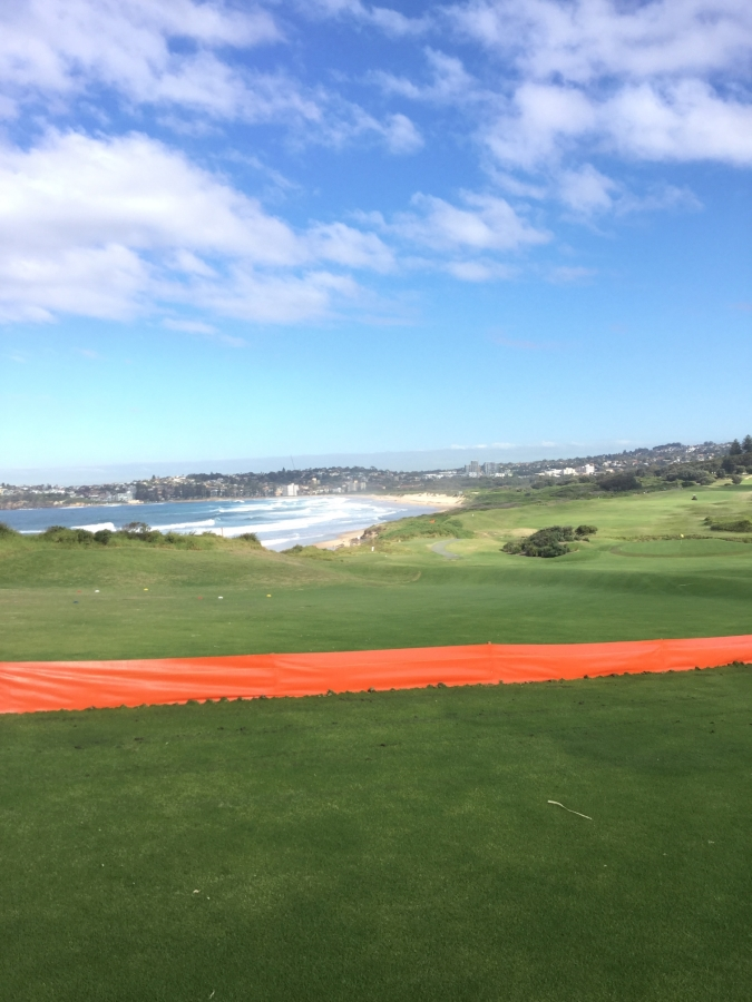 Hi-Vis Silt Fencing Installed at Collaroy Golf Course