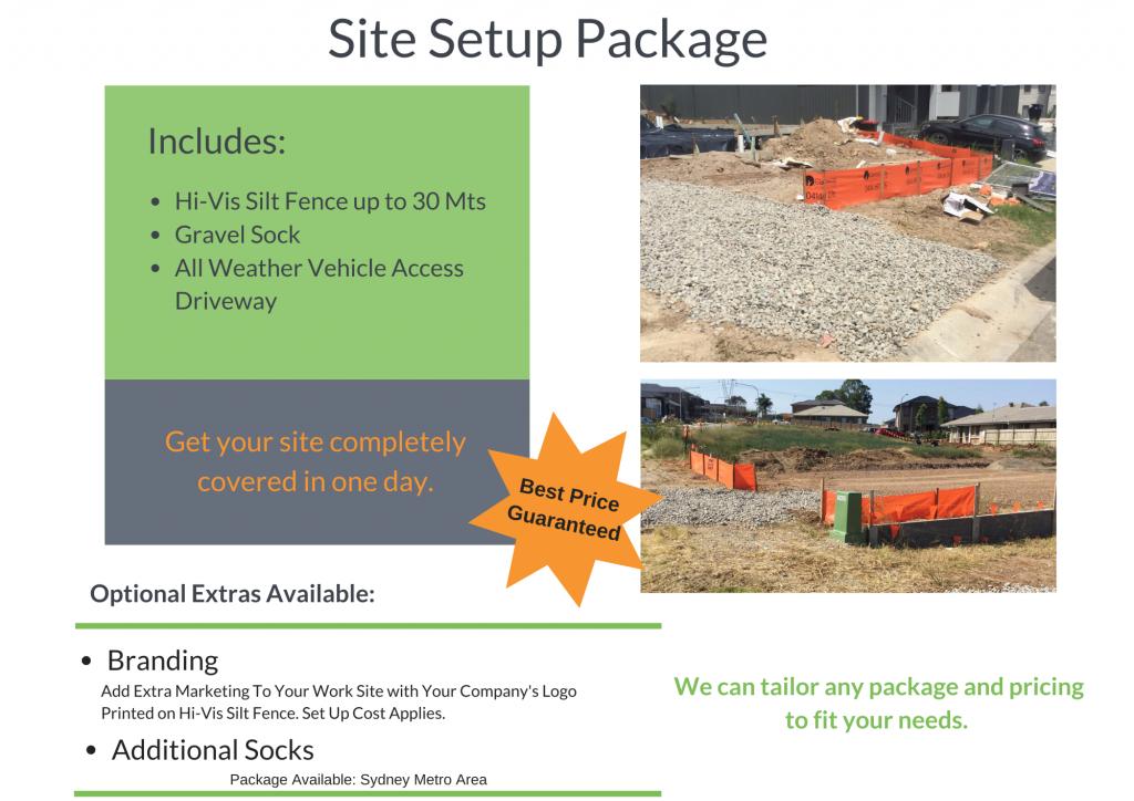 Site Setup Sediment Control Package